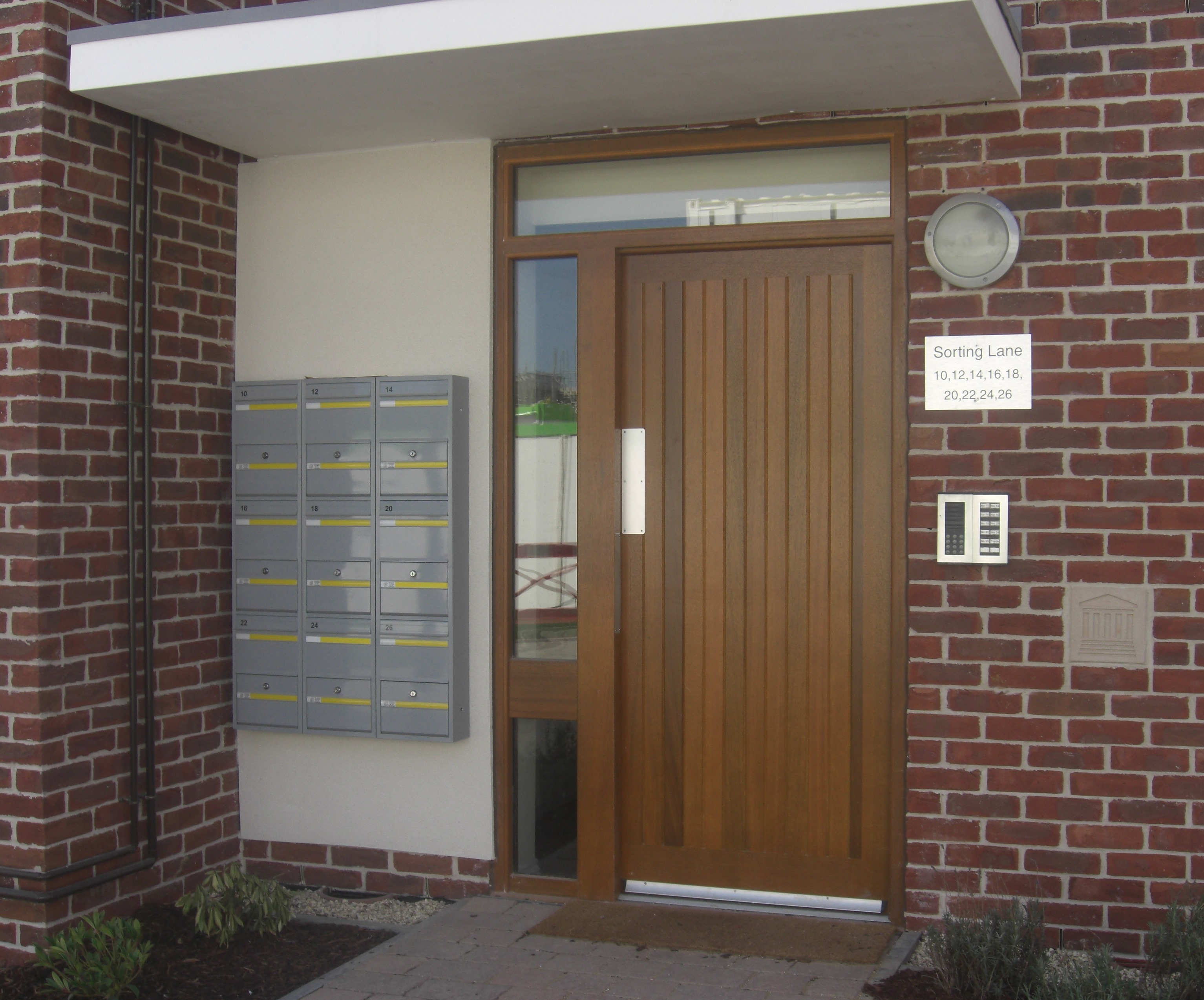 Access control external insulated hardwood doors screens for Hardwood entrance doors