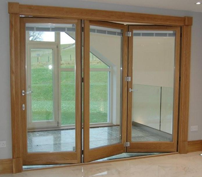 Folding Bifold Doors : Oak bi fold doors
